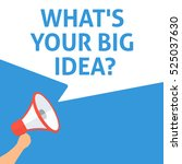 what's your big idea ... | Shutterstock .eps vector #525037630