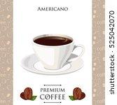 americano coffee colorful... | Shutterstock .eps vector #525042070