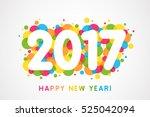 vector 2017 happy new year... | Shutterstock .eps vector #525042094