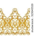 seamless pattern. golden...   Shutterstock . vector #525045520