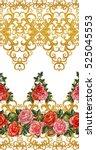 pattern  seamless  floral... | Shutterstock . vector #525045553
