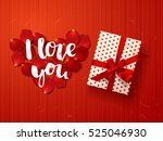 color vector gift box with... | Shutterstock .eps vector #525046930