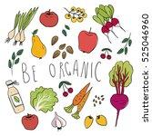 illustration of healthy foods ...   Shutterstock .eps vector #525046960