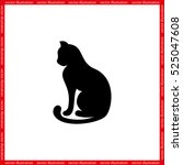Cat Icon Vector Illustration...
