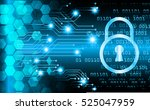 safety concept  closed padlock... | Shutterstock .eps vector #525047959