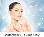 spa portrait of young and... | Shutterstock . vector #525054250