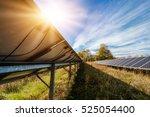 solar panel  photovoltaic ... | Shutterstock . vector #525054400
