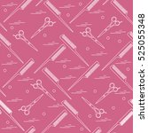 cute pattern of scissors for... | Shutterstock .eps vector #525055348