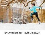 Girl Exercising In City. Winte...