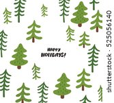 happy holidays card | Shutterstock .eps vector #525056140