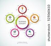 vector infographic template... | Shutterstock .eps vector #525060610