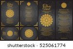 vector thai food restaurant... | Shutterstock .eps vector #525061774