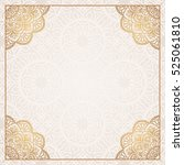 invitation card with mandala. | Shutterstock .eps vector #525061810