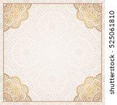 invitation card with mandala.   Shutterstock .eps vector #525061810