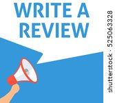 write a review announcement.... | Shutterstock .eps vector #525063328