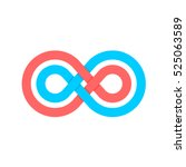infinity symbol with two... | Shutterstock .eps vector #525063589