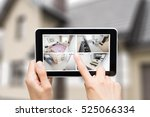 home camera cctv monitoring... | Shutterstock . vector #525066334