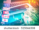 Stock photo forex markets currency trading global economy concept united kingdon pund european euro american 525066508