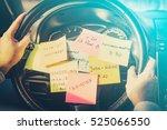 busy work do post notes list...   Shutterstock . vector #525066550