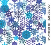 seamless pattern of snow... | Shutterstock .eps vector #525066700