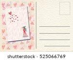 hand drawn back postcard  | Shutterstock . vector #525066769