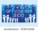 christmas and new year gift...   Shutterstock .eps vector #525072658