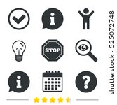 information icons. stop... | Shutterstock .eps vector #525072748