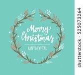merry christmas. christmas... | Shutterstock .eps vector #525073264
