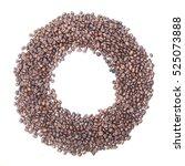 Circle Frame Of Coffee Beans O...