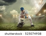 baseball players in action on... | Shutterstock . vector #525074938