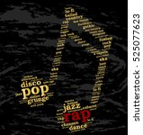 rap. word cloud  musical notes  ... | Shutterstock .eps vector #525077623