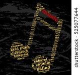 music. word cloud  musical... | Shutterstock .eps vector #525077644