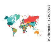 world map vector | Shutterstock .eps vector #525077839