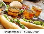 crafting beer and burgers.... | Shutterstock . vector #525078904
