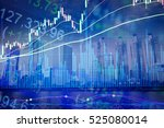 financial data on a monitor.... | Shutterstock . vector #525080014