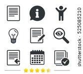 file document icons. upload...   Shutterstock .eps vector #525085210