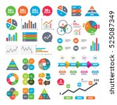 business charts. growth graph.... | Shutterstock .eps vector #525087349