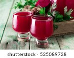 beetroot juice in a large glass ... | Shutterstock . vector #525089728
