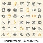 sketch icon collection. hand... | Shutterstock .eps vector #525089893