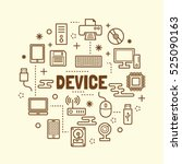 device minimal thin line icons... | Shutterstock .eps vector #525090163