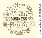 business minimal thin line... | Shutterstock .eps vector #525090244