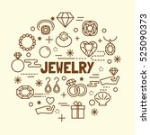 jewelry minimal thin line icons ... | Shutterstock .eps vector #525090373