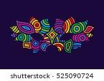 bright colors vector carnival... | Shutterstock .eps vector #525090724