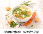 vegetable soup | Shutterstock . vector #525094840