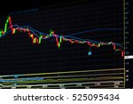 Stock Market Graph. Candle...