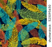 the brazilian background from... | Shutterstock .eps vector #525095650
