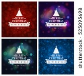 christmas greeting cards... | Shutterstock .eps vector #525095698