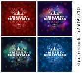 christmas greeting cards... | Shutterstock .eps vector #525095710