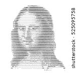 mona lisa stylized portrait... | Shutterstock .eps vector #525095758