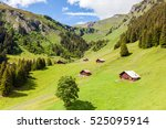 beautiful mountain landscape...   Shutterstock . vector #525095914